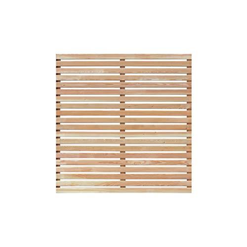 Mega Holz Sichtschutzzaun Lärche DIY Sichtschutz 180x180 cm