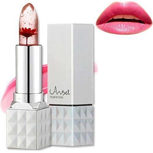 Jelly Lippenstift, Richoose Blume Temperatur Farbwechsel Lippenstift Wasserdichtes langlebiges Moisturizing Lip Balm Engel Versuchung Lip Gloss für Mädchen