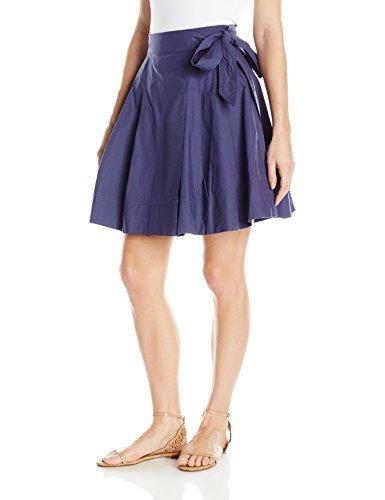 Soprano Juniors Women's Poplin Side Tie Skirt, Navy, S
