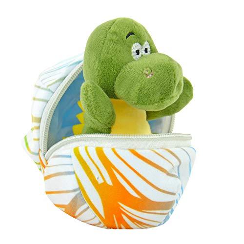 Kögler 75763 - Daniel, Mini Dino aus Plüsch im Ei, ca. 13 cm groß, kleines Plüschtier zum Kuscheln und Liebhaben, als kleines Geschenk für Kinder, Jungen und Mädchen