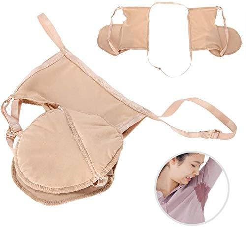 YJF Sweat Guards for Women Underarm Sweat Absorbent Bra Pads, Reusable Cotton Armpit Durable Anti-Sweat and Anti-Odor 3pcs