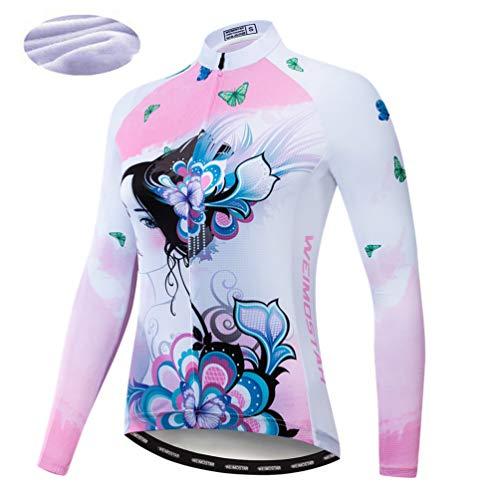Maillot de ciclismo para otoño, invierno, cálido, con cremallera, camiseta de manga...