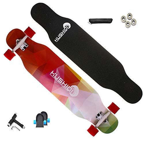 VOMI Skateboard Retro Cruiser 42.5 Zoll Board Ahornholz Pennyboard Langstrecken Skate, Vintage Geschenk für Erwachsene Anfänger Professionel Kinder Jungen Mädchen