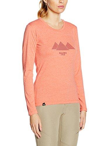 Salewa Wawa T-Shirt Femme, Clementine, FR : L (Taille Fabricant : L)