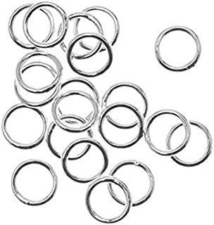 UnCommon Artistry 8mm Closed Sterling Silver Jump Rings 18g. (10)