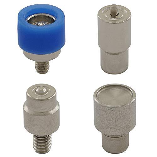 GETMORE Parts Werkzeug Ringfeder, Presswerkzeug, Druckknopfwerkzeug für Ösenpressen, Niet-, Hebel- und Spindelpressen - für Ringfeder-Druckknöpfe, 15 mm