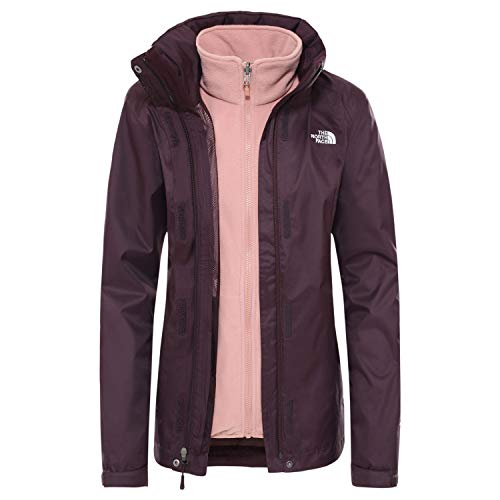 The North Face W Evolve II Triclimate Jkt, Giacca Impermeabile Donna (XL, Root Brown/Pink Clay)