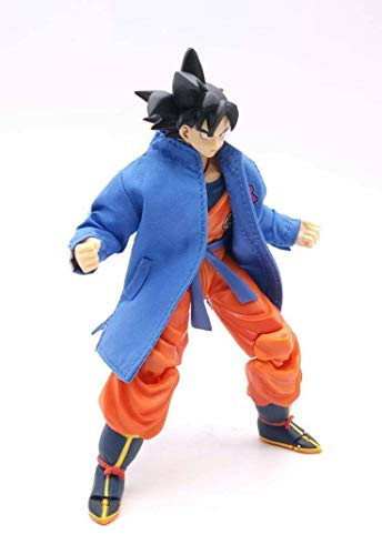 FIGLot Blue Dragon Ball Broly Movie Track Jacket for SHF Dragon Stars Goku (Figure NOT Included)