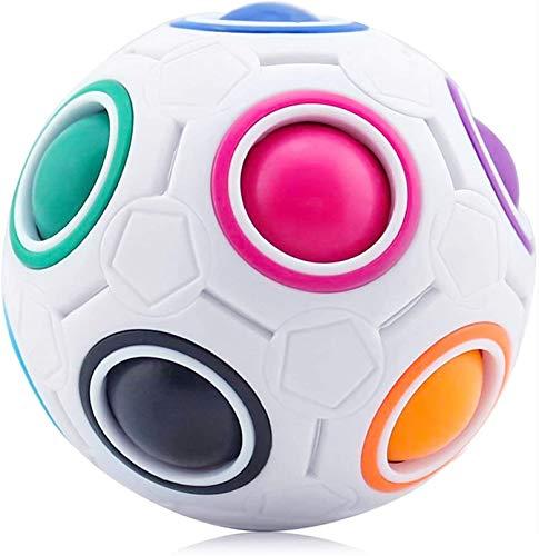 Magic Ball, Bola de Arco Iris Bola de Arco Iiris Magic Rainbow Cube Spherical Cube Puzzle Rompecabezas Juguetes Educativos para Niños Adult Stress Reliever