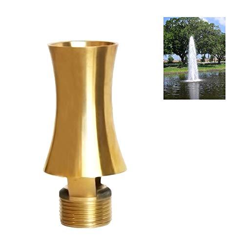 NAVADEAL Display Cascade Fountain Nozzle - 1/2' DN15 & 3/4' DN20 Brass Water Spray Sprinkler - for Garden Pond, Amusement Park, Museum, Library
