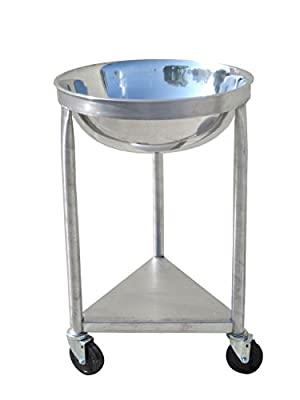 Heavy-Duty All-Stainless-Steel Mobile Dolly Stand for 30-Quart Mixing Bowl - Bowl Included