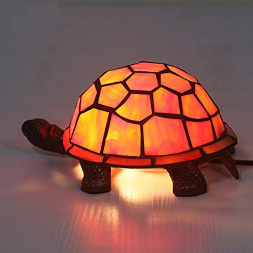 GYLNAI schildpad Tiffany stijl lampen, glas in lood tafellamp nachtlampje voor restaurant studie slaapkamer TFN-06