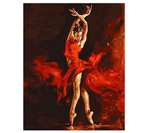 VVNASD Rompecabezas De 1000 Piezas para Adultos Artista De Imagen De Arte De Kit De Bricolaje Bailarina De Ballet De Fuego De Madera Juguete Educativo para Niños Y Adultos