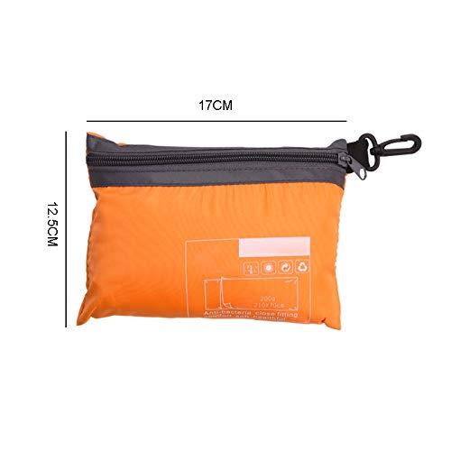 Sjzwt Ultraleichte Outdoor-Schlafsack Liner Polyester-Rohseide tragbares Einzel Schlafsäcke Camping-Reisen Gesunden Außenschlafsack (Color : Orange)
