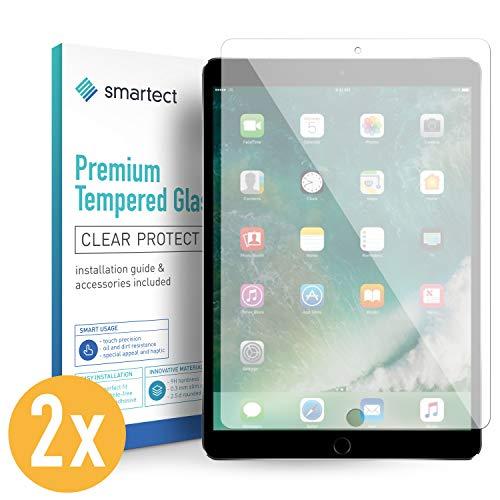 smartect Beschermglas compatibel met iPad Air 3 (2019) / iPad Pro 10.5 [2 stuks] - screen protector met 9H hardheid - bubbelvrije beschermlaag - antivingerafdruk kogelvrije glasfolie