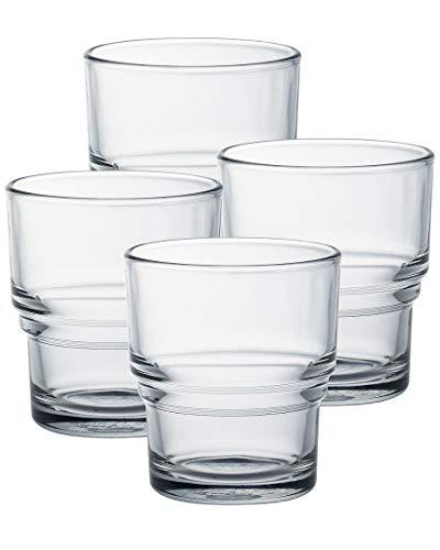 Duralex Bistro - Juego de 4 vasos de baño (210 ml, 21...