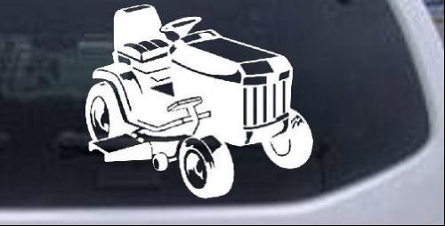 Rad Dezigns Lawn Mower Lawn Care Landscaping Business Car or Truck Window Laptop Decal Sticker - White 6in X 5.1in