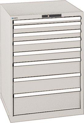 LISTA Schubladenschrank, Traglast/Schubl. 200 kg, 8 Schubl.: 50,2x75,2x100,2x150,200 mm,...