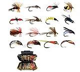 L-MEIQUN, 32/40/76 / 112pcs Folleto de Pesca con Mosca Mojo/seco NINFA Moscas Artificiales Bebado Pesca Tackle Trout Tit Kit (Color : Set 4 112Pcs)