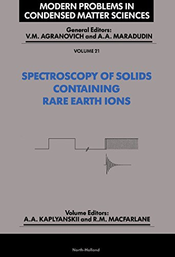 Spectroscopy of Crystals Containing Rare Earth Ions (ISSN) (English Edition)