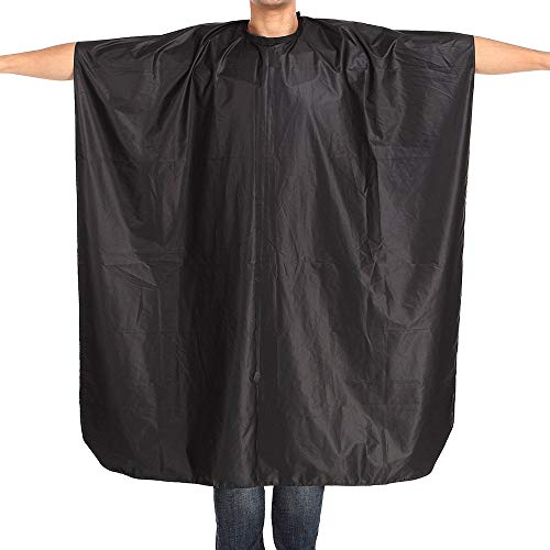 SSDXY Barber Cape Unisex,Pro Waterproof Black Hair Cut Hairdressing Barbers Cape Gown Adult Cloth for Hair Cutting