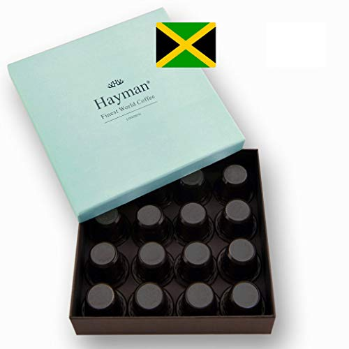 100% Jamaica Blue Mountain coffee pods compatible with Nespresso®* Original Machines - One of the world's best coffees, fresh roasted for you! (Box with 16 pods)