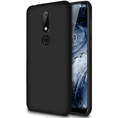 Hülle für Nokia 6.1 Plus (Nokia X6) in Schwarz | Unifarben Tasche | Dunn und