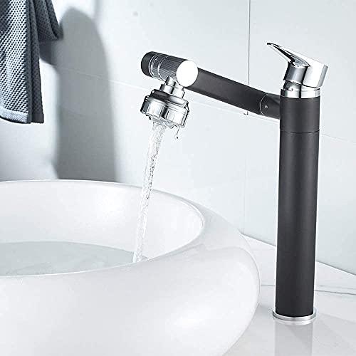 Praee Creatividad Moderna Elevación de Cobre Levantamiento del Cuerpo y Tirar de la Superficie Cuenca Hot Hot Frío Agua Grifo retráctil Rotatable Shampoo Hermosas grifos prácticos para el baño
