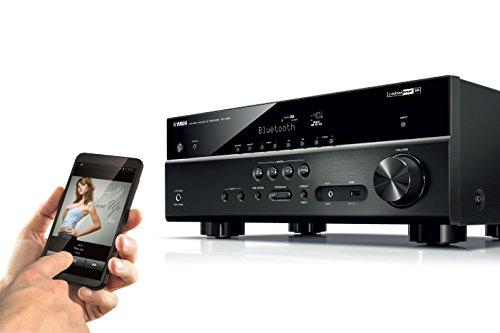 Yamaha RX-V483BL 5.1-Channel 4K Ultra HD MusicCast AV Receptor, funciona con Alexa