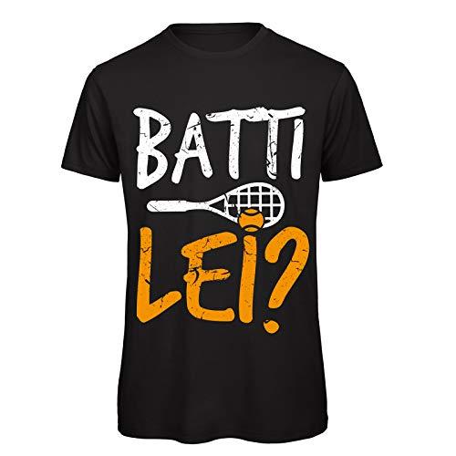 CHEMAGLIETTE! T-Shirt Divertente Uomo Maglietta Cotone con Stampa Citazioni Film Batti Lei Tuned, Colore: Nero, Taglia: L