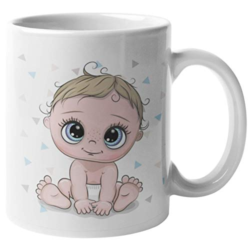Luckygrafic Taza Nacimiento niño