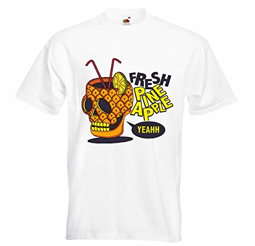 T-shirt Remera Frisse pin Apple YEAHH CRANEO Cocktail van ananas was citroen verfrissende drank zonder alcohol Vodka Agudent Vino witte wijn alcohol likeur in wit