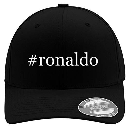 #Ronaldo - Men's Hashtag Soft & Comfortable Flexfit Baseball Hat, Black, Small/Medium