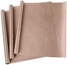 3 Pack PTFE Teflon Sheet for Heat Press Transfer Sheet Non Stick 16 x 20
