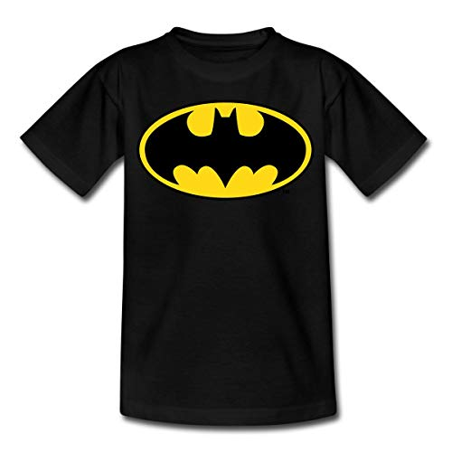 DC Comics Batman Logo Original Kinder T-Shirt, 110-116, Schwarz