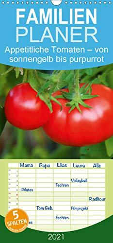 Appetitliche Tomaten – von sonnengelb bis purpurrot - Familienplaner hoch (Wandkalender 2021, 21 cm x 45 cm, hoch)
