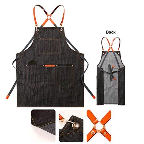 Huanpin Professionele tondeuse Barbiere – multifunctioneel, verstelbaar met zakken | gepersonaliseerde geschenken met je logo en schort