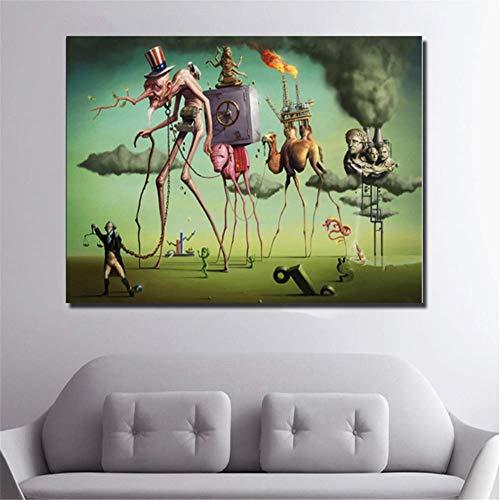nr Salvador Dali muurkunst poster en prints abstracte kunst canvas schilderij wandschilderijen voor woonkamer klassieke wooncultuur 50 x 70 cm zonder lijst