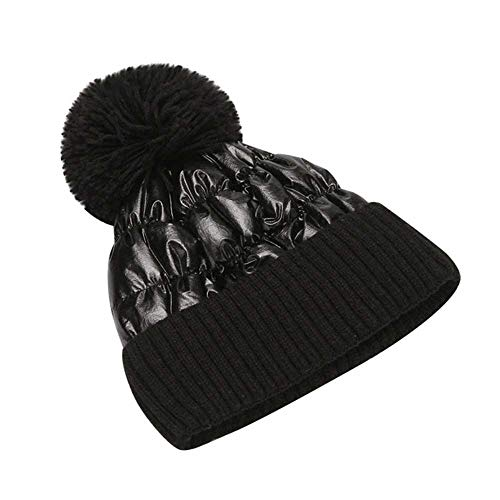 MCSZG Heißer Winter hüte für Frauen Dicke Bling gestrickte mützen Hut mädchen Herbst weibliche Hairball rosa weiß caps wärmer Bonnet Casual Cap