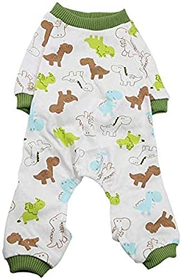 TOPINCN Dog Puppy Cotton Jumpsuit Cat Small Pet Rompers Pajamas Clothing Soft Comfy Pets Apparel Home Daily Costume Bodysuit(M)