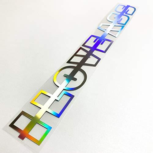 I Love Ass Oilslick Autoaufkleber Frontscheibenaufkleber Hologramm Heckscheibenaufkleber That Ass Sticker Schimmernd Windschutzscheibe Reflektierend Schriftzug 3D Effekt Wunschtext Big Booty