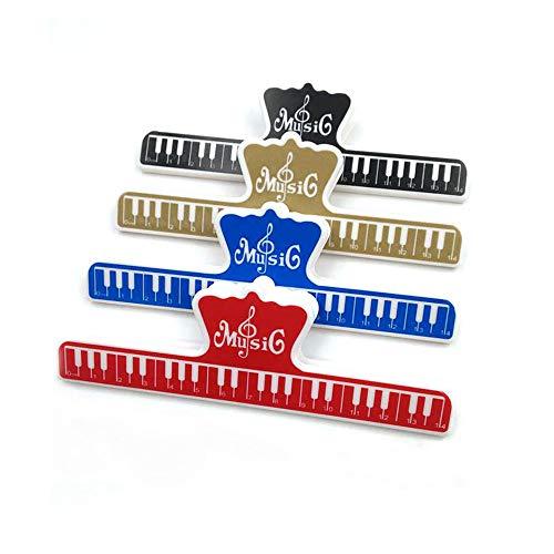 4 Pieza Clip de Nota Musical, Abrazaderas para Carpeta, Clips de Música para Partituras, Soporte de Página para Piano, para Tiendas de Oficina en Casa y la Escuela