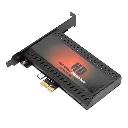 Shipenophy Carte de Capture Haute résolution PCIe vers HDMI sans Lecteur Bonne compatibilité Capture vidéo 4K HD Capture vidéo HD à Double Interface Sortie de Boucle de Signal Durable pour Ordinateur