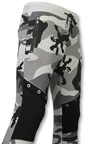 Camouflage Broek - Casual Joggingbroek - Camouflage Biker - Grijs