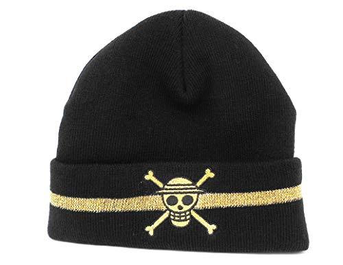 Ripple Junction One Piece Adult Unisex Straw Hat Skull Watchmen Beanie OS Black