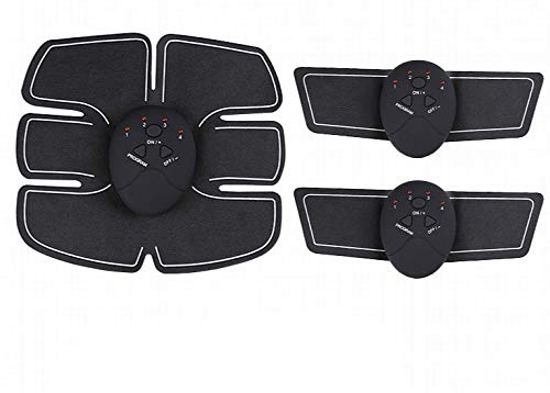 FENGHU Muskelstimulator 3 In 1 Set Elektrostimulation EMS Drahtloser Muskelstimulator Fitness Bauchmuskeltraining Elektrischer Körper Abnehmen Brustvergrößerungspumpe