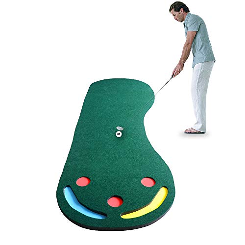 Portable Indoor Golf Put Trainer Golf Practice Deken Kunstgras Mini Golf Green Beginners Family Oefenen Mat