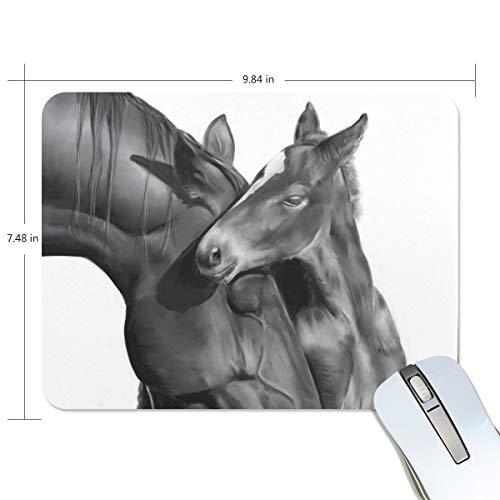 Preisvergleich Produktbild Mauspad mit schwarzem Fohlen und Pferde-Mauspad,  Premium-strukturiert,  rutschfeste Gummiunterseite,  für Laptop,  Computer und PC