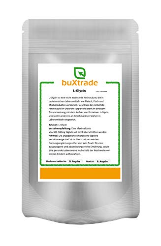 100 g Glycin L-Glycin proteinogene Aminosäure E640 Pulver