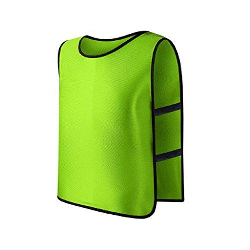 Lunji - Baberos de entrenamiento de fútbol, rugby, deportivos, para niños, 8 colores a elegir, verde